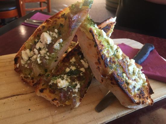 Stanley, Australia: Bread Special - Feta, Pesto and red onion