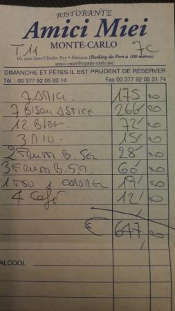 Fontvieille, Principato di Monaco: ricevuta
