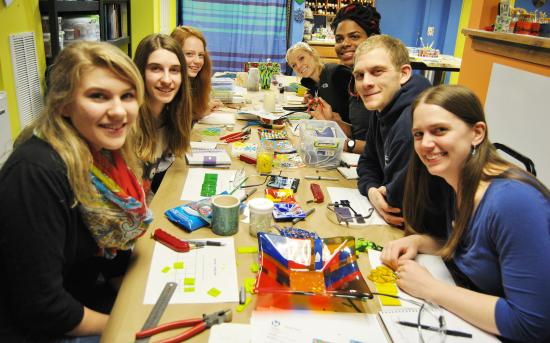 Cobleskill, NY: Fused glass is fun!