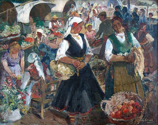 "Art Gallery Philippopolis: ""Marketplace"" by Danail Dechev, oil on canvas"