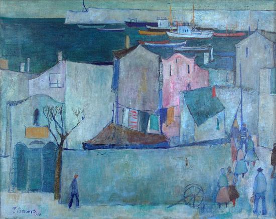 "Art Gallery Philippopolis: ""Sozopol"" by Georgi Bozhilov, oil on canvas"