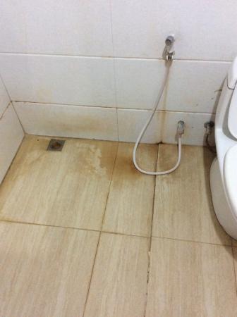 sol dégoûtant de la douche chambre 102