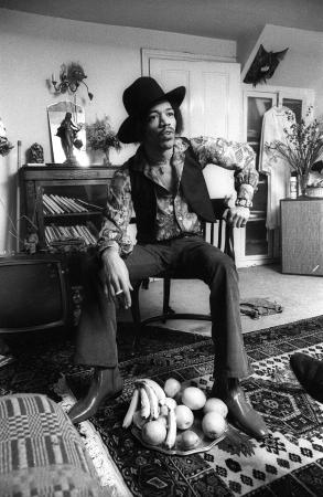 Handel & Hendrix in London: Jimi Hendrix at 23 Brook Street, 1969. Credit:Barrie Wentzell