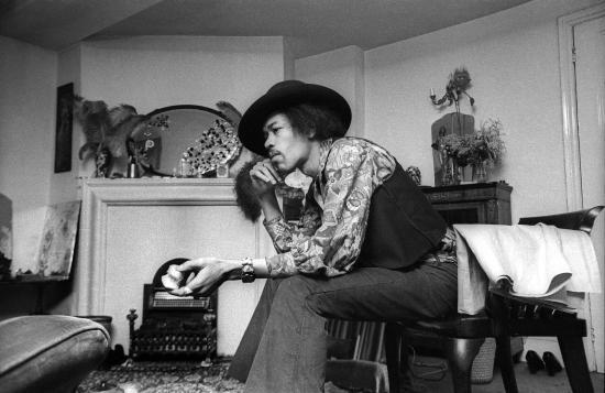 Handel & Hendrix in London: Jimi Hendrix at 23 Brook Street,1969. Credit Barrie Wentzell