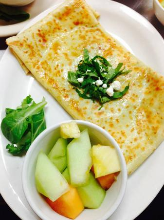 Sewickley, PA: Spinach and Goat Cheese Crepe