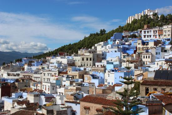 Dar Dalia: A view from the Terrace, over Chefchaouen