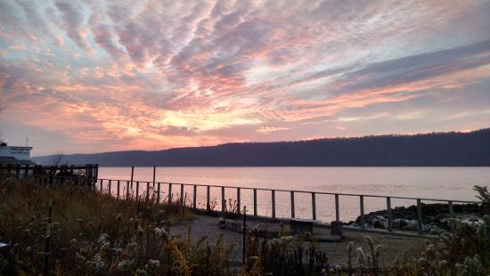 Yonkers, NY: Sunset Over the Hudson from our Park