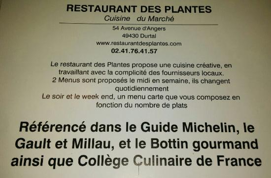 Durtal, Франция: Suite du menu de samedi 23/01. Manque amusé bouches dessert