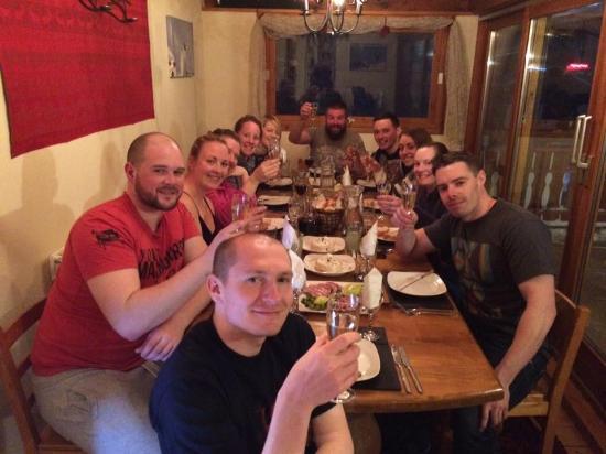 Savoie, Francia: Baked camabert starter was a big hit