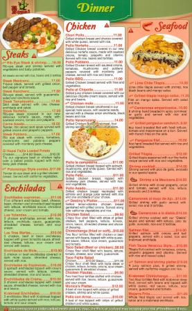 Corydon, IN : Our new menu
