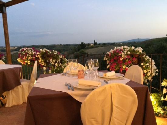 Montespertoli, Italia: Il paesaggio dalla Locanda!!