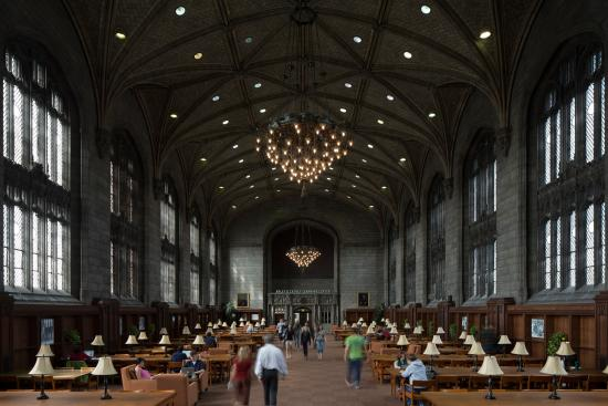 University of Chicago : William Rainey Harper Memorial Library. Image by Tom Rossiter Photography.