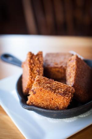 Killington, VT: Fried Bacon Cornbread