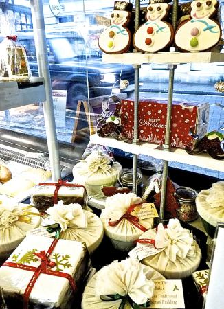 Christmas fayre at Reeve the Baker, Ringwood, New Forest, Hampshire, England