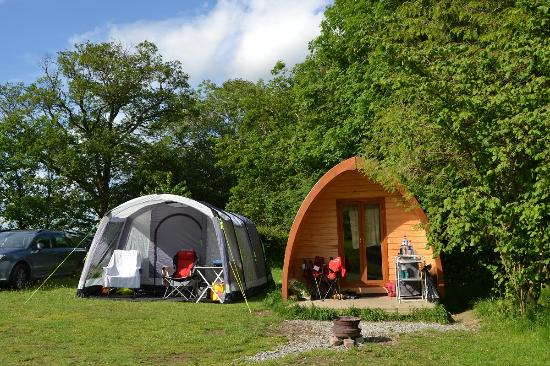 Family Camping Pod And Family Tent Lanefoot Farm Campsite