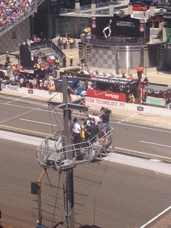race marshalls in the spotter platform picture of indy 500 rh tripadvisor co uk