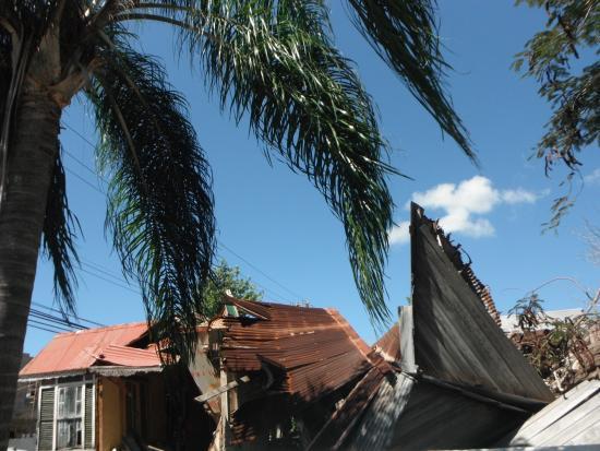 Worthing, Barbados: Wind-damage