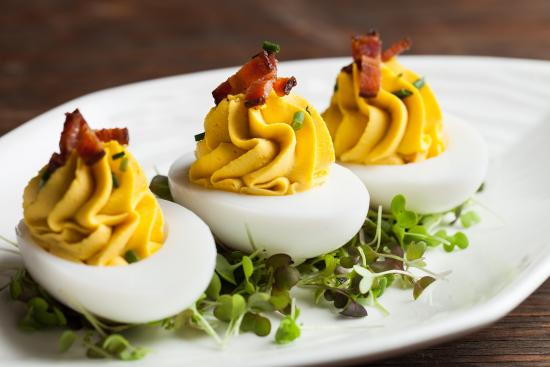 Port Ludlow, WA: Finnriver Deviled Duck Eggs