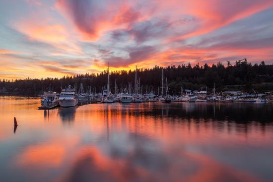 Sunset at the Port Ludlow Marina