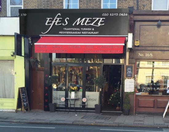 Efes Meze: Restaurant front