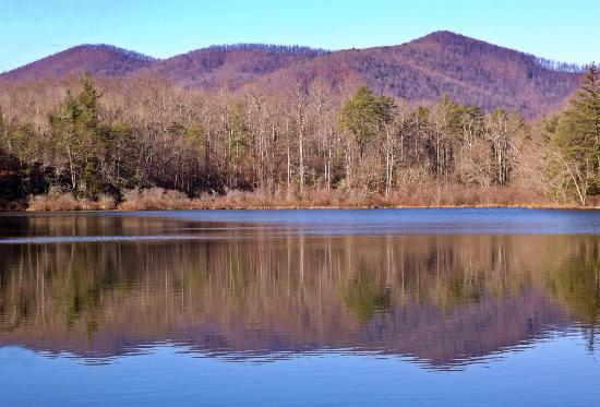 Bent Creek Experimental Forest: Quiet lake.