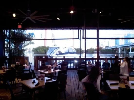 North Miami Beach, FL: Boat tied up outside Duffy's    usually a nice view here