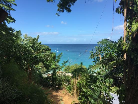 Castara, Tobago: view from shady mango 2 balcony