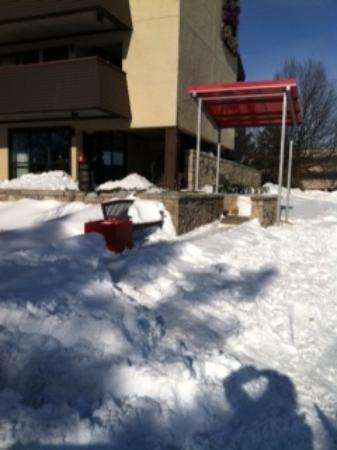 Lutherville Timonium, MD: Walkway to front office, 2 days after snow ended