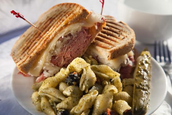 Sandpoint, ID: Rueben Sandwich with Greek Pasta Salad