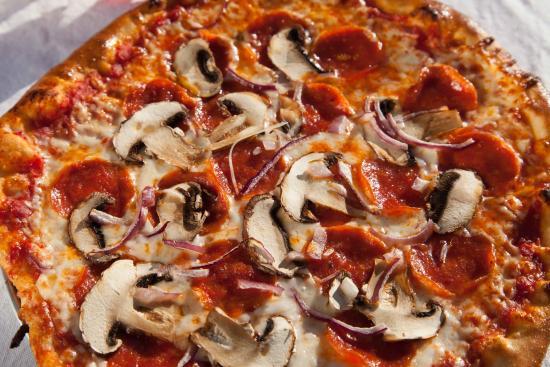 Sandpoint, ID: Pepperoni and Mushroom Pizza
