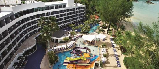 Aerial view swimming pool picture of hard rock hotel - Hard rock hotel penang swimming pool ...