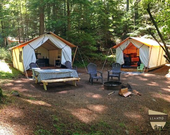 Olga, واشنطن: LEANTO | Moran State Park Glamping | Site 6