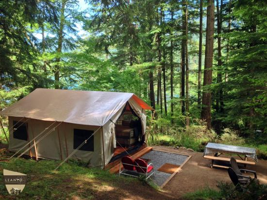 Olga, واشنطن: LEANTO | Moran State Park Glamping | Site 5