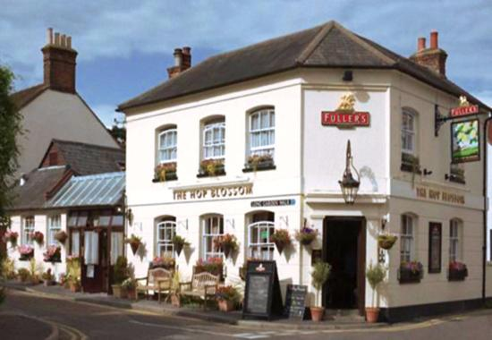Farnham, UK: The Hop Blossom is a lovely charming place for a drink and a bite to eat