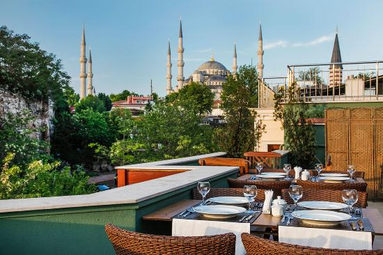 Erguvan Hotel: Terrace views