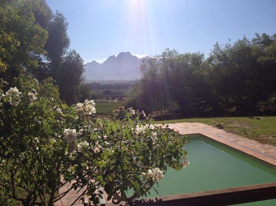 Franschhoek, Sudáfrica: View from our terrace