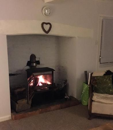 Berriew, UK: Lovely log burner