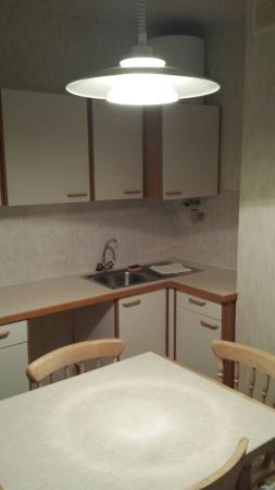Eridan Aparthotel : Interno del miniappartamento e panorama
