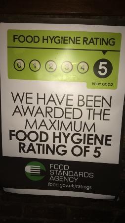 Washington, UK: food hygiene rating 5.
