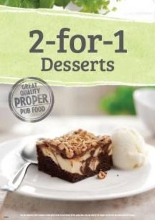 Washington, UK: 2-4-1 on desserts