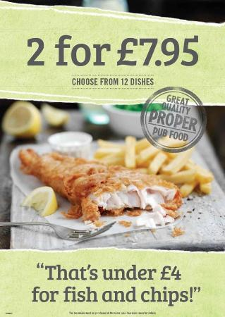 Washington, UK: meal deal 2-4-£7.95, great menu to choose from.