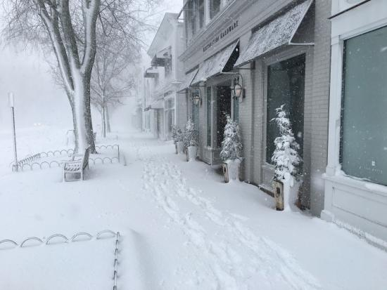 East Hampton, Nova York: Walk into town during during the snow storm