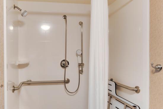 Hampton Inn Pittsburgh Greentree: Roll-in Shower