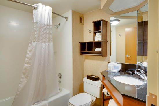 Hampton Inn Pittsburgh Greentree: 2 Queen Bathroom