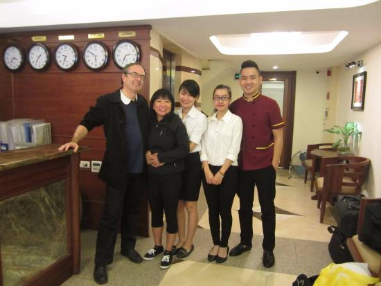 Hanoi Charming 2 Hotel: Reception Staff: Who seem to know exactly what we needed before we knew ourselves!