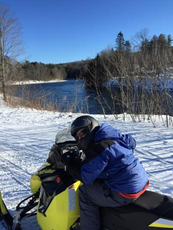 The Forks, ME : Snowmobiling.