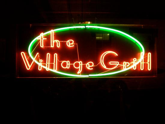 Abbeville, SC: Front entrance sign.