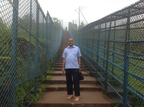 Chikmagalur, India: Steps down to data peetha.