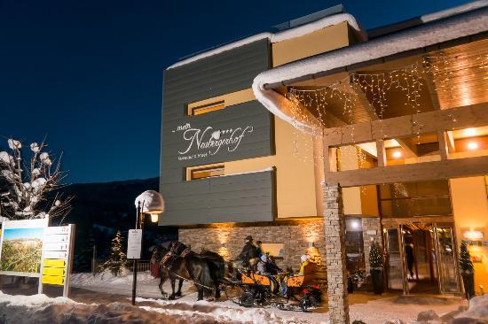 Hotel ...mein Neubergerhof: Pferdeschlittenfahrten direkt ab Haus