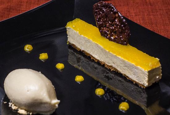 Le Poelon : cocolat dulcey à l'orange, lait glacé caramel/fleur d'oranger